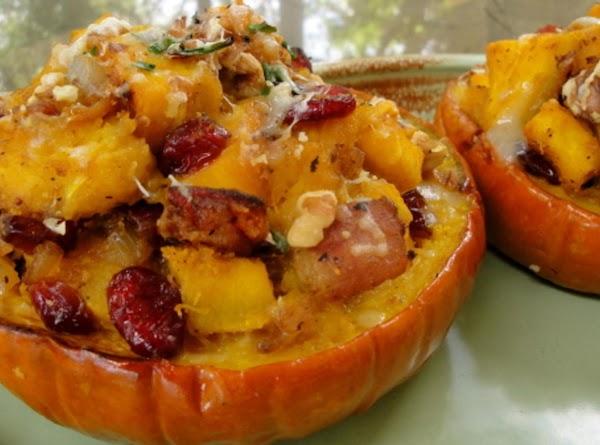 Smokin' Maple Bacon Cranberry Pumpkin Bowls Recipe
