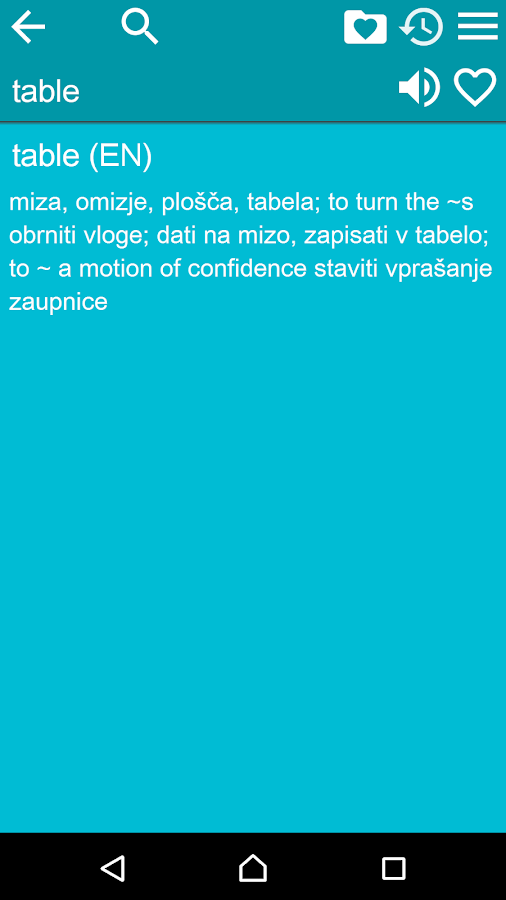 English Slovene Dictionary Fr- screenshot