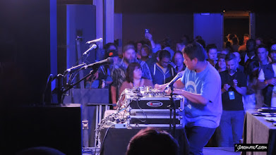 Photo: Kid Koala, playing the afterparty at the 2015 Calgary Folk Music Festival.