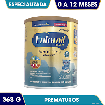 Formula Infantil ENFAMIL   enfacare premium 0-12 meses x363g