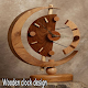 Wooden clock design for PC-Windows 7,8,10 and Mac