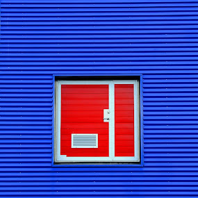 The Red Door.  by Konrad Ragnarsson - Abstract Fine Art ( iceland, building, konni27, door, abstrakt )
