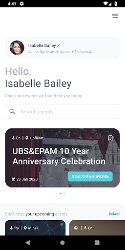 events mobi screenshot 2