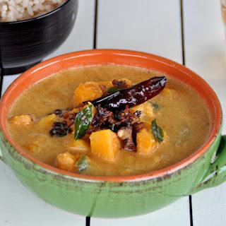 Pacha pulinkari/ Vegetables cooked in spicy tamarind gravy