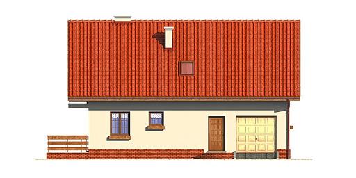 Dom przy Głogowej - Elewacja przednia