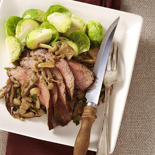 Spice-Rubbed Steak with Sauteed Wild Mushrooms