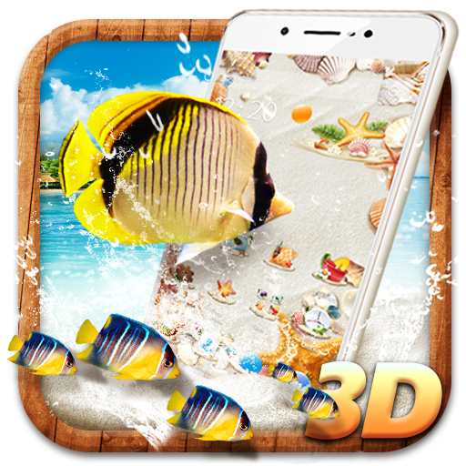 3D Summer Beach Theme