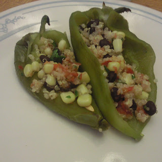Black Bean, Corn and Quinoa Stuffed Anaheim Peppers