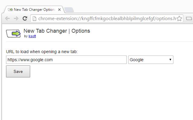 New Tab Changer Chrome Web Store