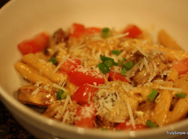 Penne With Cajun Hot Links And Chipotle Shrimp Recipe