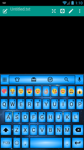 Led Blue Emoji キーボード