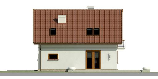 Dom przy Alabastrowej 23 - Elewacja tylna