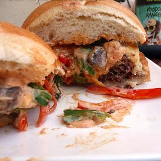Creole Seafood Stuffed Burger.