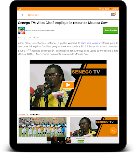 Senego: News in Senegal- screenshot thumbnail
