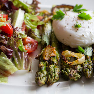 Grilled Asparagus with Poached Egg and Greens