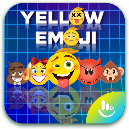 Yellow Emoji TouchPal Keyboard Sticker
