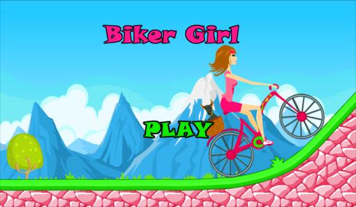 Biker Girl Hill Climb Cycling