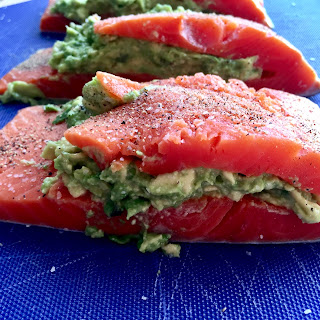 Avocado Stuffed Salmon.