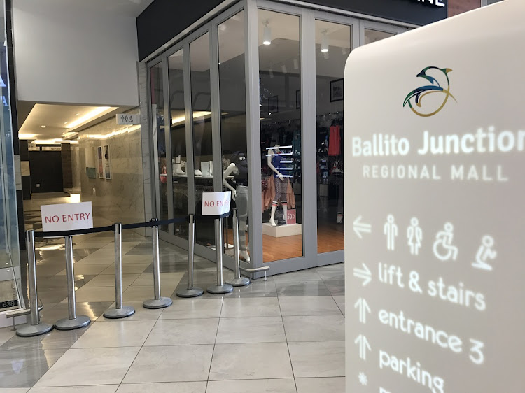 The entrance to the toilets where Siphokazi Khumalo was murdered at the newly opened Ballito Junction shopping mall.