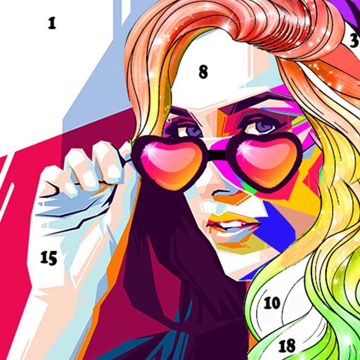 Color By Number Pixel Art Makeup Games For Girls