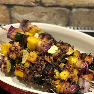 Hawaiian Chicken Kebabs.