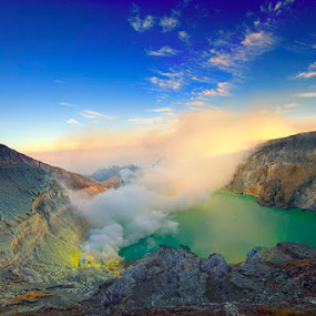 Mt Ijen  by Andreas Hie - Landscapes Mountains & Hills