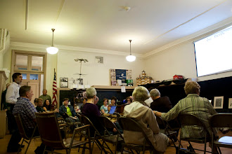 Photo: Mike Buryk talk at Nicholas Bervinchak Art Exhibit Schuylkill County Historical Society April 21, 2012