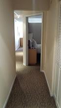 Photo: Hotel room when walking in the door.