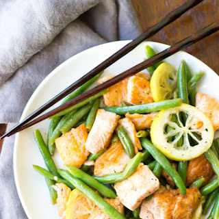 Lemon Pepper Salmon Stir-Fry