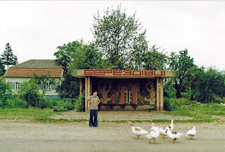 Photo: Na przystanku - lipiec 2002.