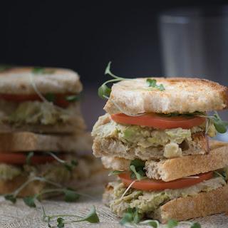 Vegetarian Avocado White Bean Sandwiches.