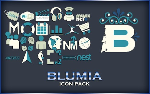 BlueMia - icon pack Screenshot