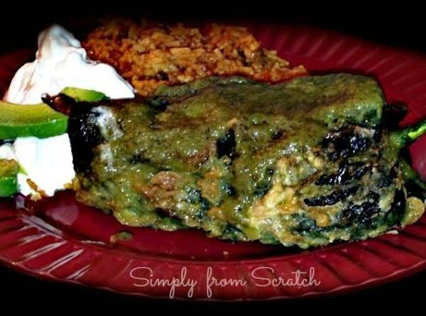 Chile Relleno's With Shrimp And Salsa Verde