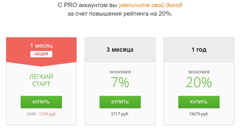 тарифы  FL.ru
