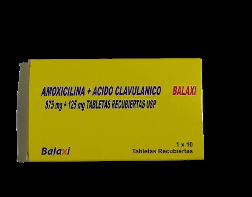 Amoxicilina + Acido Clavulanico 872mg/125mg x 10 Tabletas