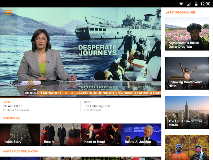 Screenshot 7 for Al Jazeera's Android app'