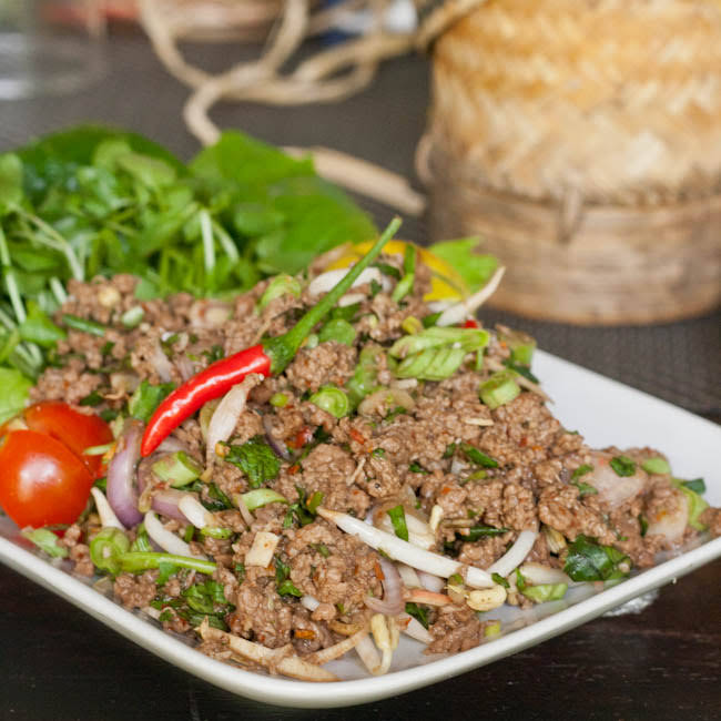 Minced Meat and Herb Salad - Laap
