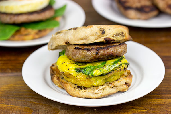 Sausage and Egg Muffin Sandwiches Recipe | Yummly