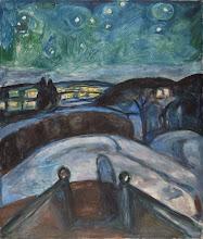"""Photo: Edvard Munch, """"Notte stellata - neve fresca sulla strada"""" (1906)"""