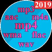 Audio Converter: mp4, mp3, wav, m4a, aac etc.