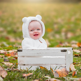 Charlie by Jenny Hammer - Babies & Children Babies ( fall, leaves, baby, cute, boy, adorable )