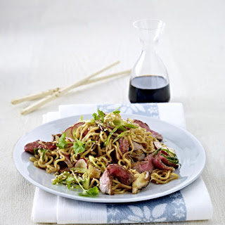 Asian Steak with Noodles.