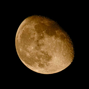 Moon by Debatosh Chakraborti - Landscapes Starscapes ( moon, nature, weather, landscape, nightscape )