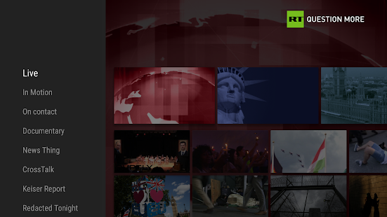RT News for TV- screenshot thumbnail