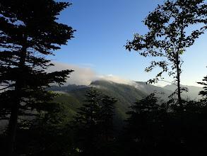 板屋岳・小河内岳方面(右奥に塩見岳)