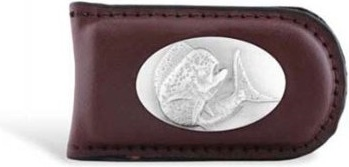 Zep Pro Dolphin Leather Magnetic Money Clip - Brown