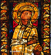 Photo: mittelalterliche Glaskunst im Münster