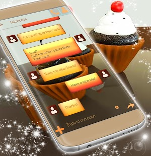 Cute Cupcakes Theme For SMS - náhled