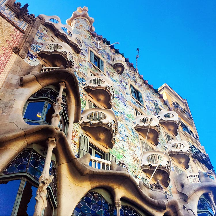 Casa Batlló, a renowned building along La Rambla in downtown Barcelona, was one of Antoni Gaudí's masterpieces.