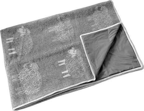 Pläd grå med fluffigt grått får med strålningsskydd